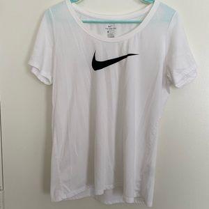 White Nike Tee